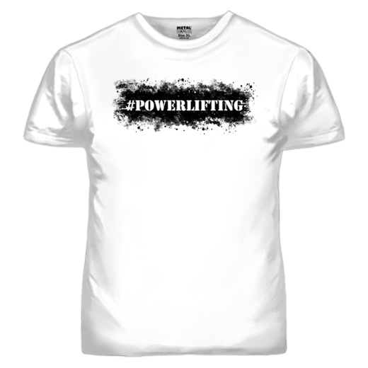 #POWERLIFTING T-SHIRT (19015O)