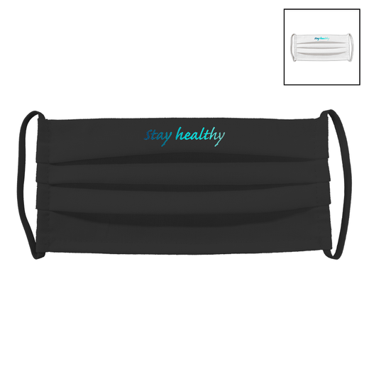 STAY HEALTHY | Fabric facial mask (pleated)